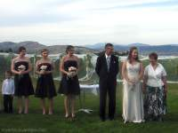 The bridesmaids and Bride